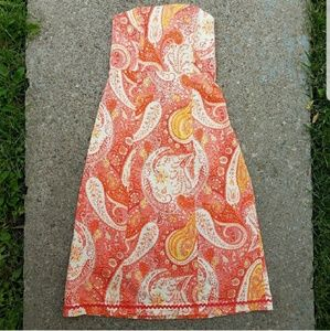 Moda International Strapless Paisley Summer dress